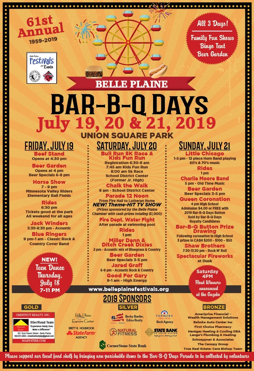 BBQ Days - July 2019 - Belle Plaine MN Festivals and Events